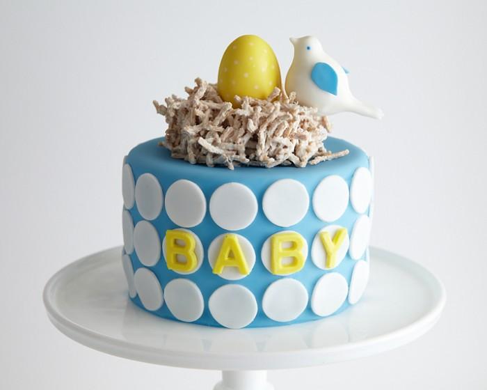 Baby Shower Bird's Nest Cake How-To