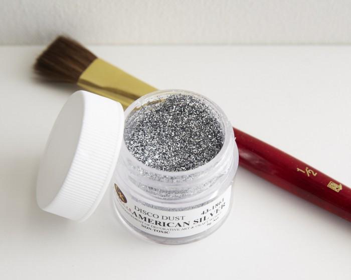 Silver Disco Dust Cake Decorating Glitter
