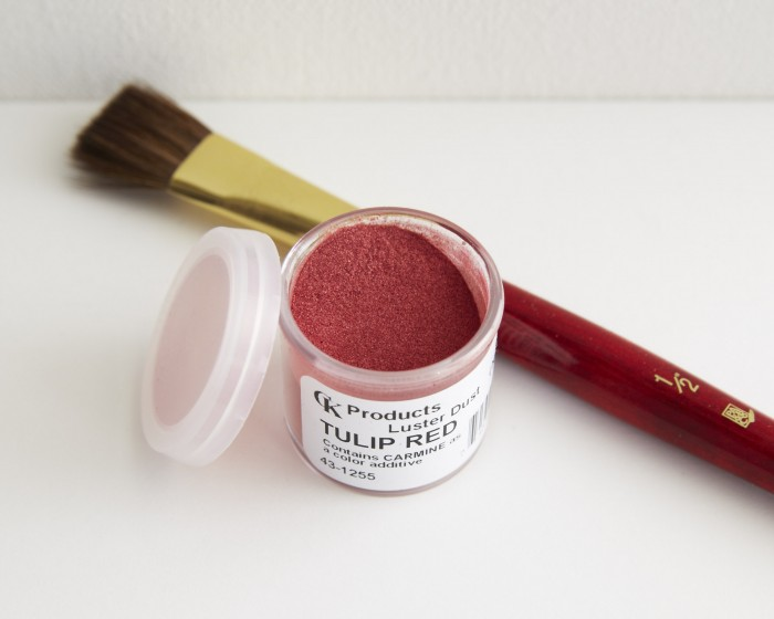Pinkish Red Tulip Red Luster Dust Dusting Cake Powder 2g