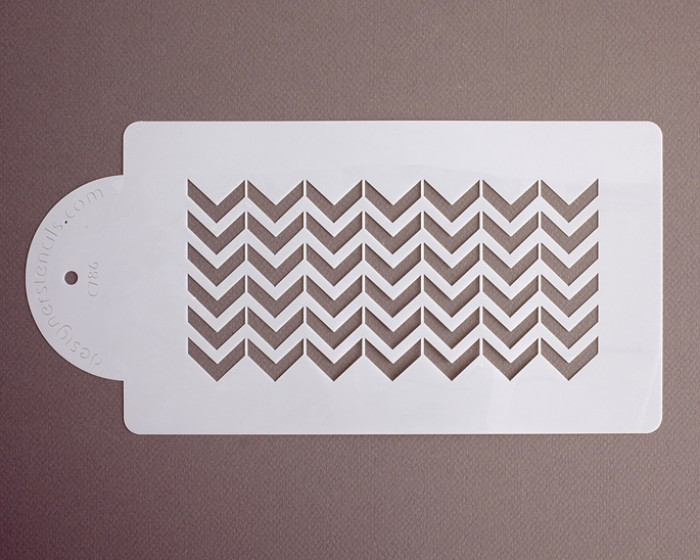wedding cake chevron side designer stencils