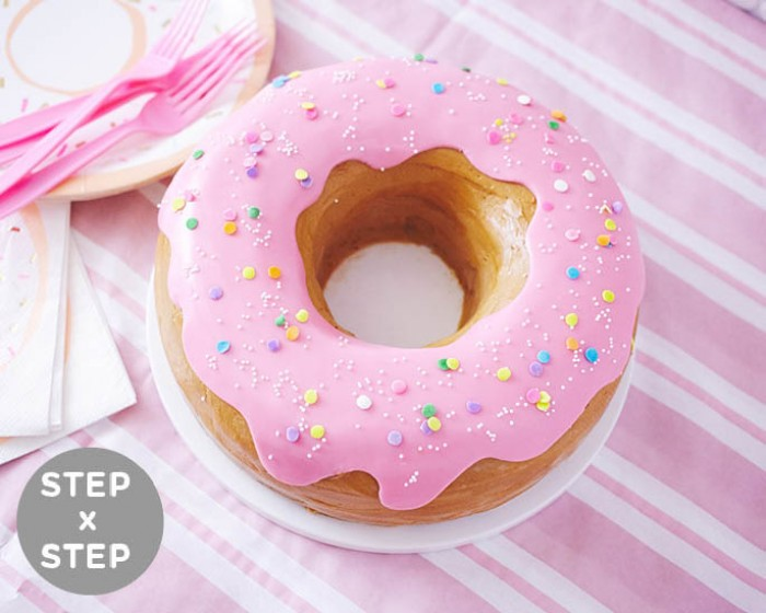 How To Make A Giant Donut Cake Step X