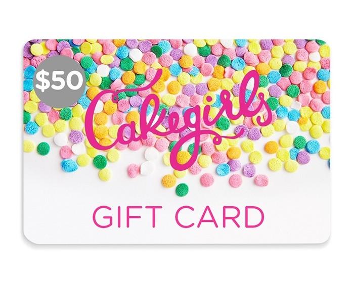 $50 Cake Girls Gift Card