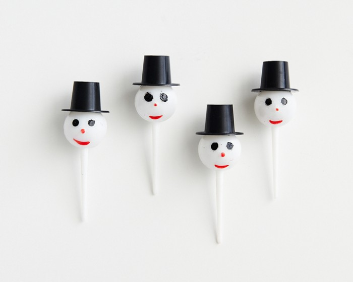 Plastic Snowman Frosty Cupcake Cake Picks Novelties