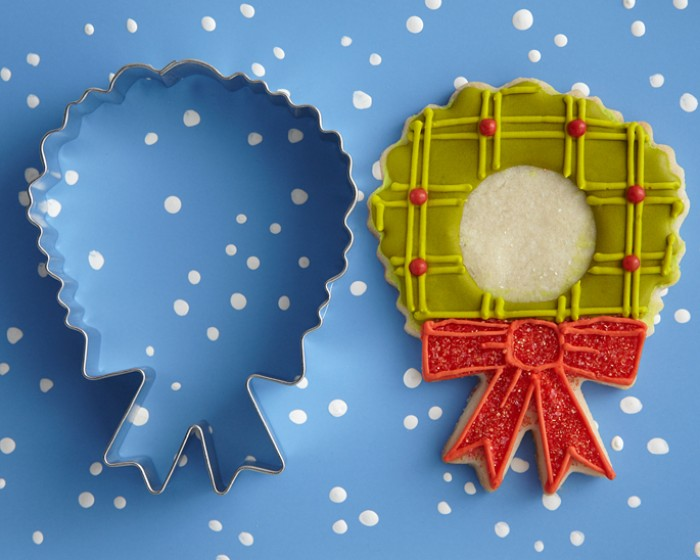 Christmas Holiday Wreath Shaped Cookie Cutter