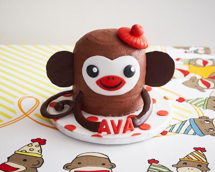 Sock Monkey Birthday Cake How-To Tutorial |Cakegirls Step x Step