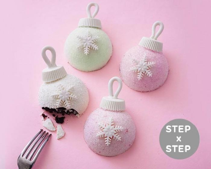 How To Make Individual Christmas Ornament Cakes - Step x Step