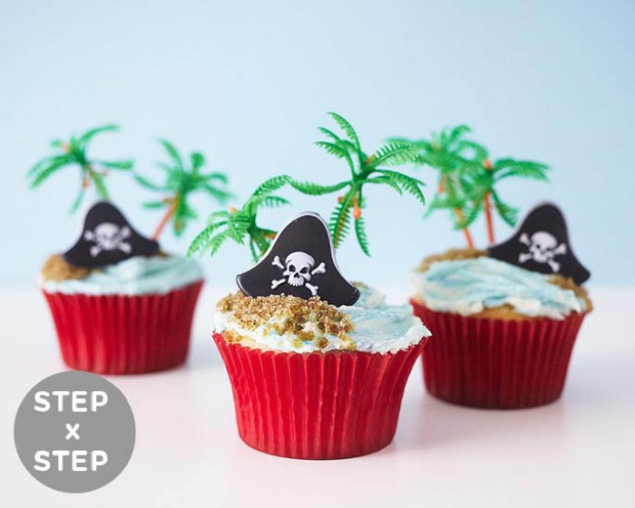 How To Make Easy Pirate Cupcakes | Cakegirls Step x Step