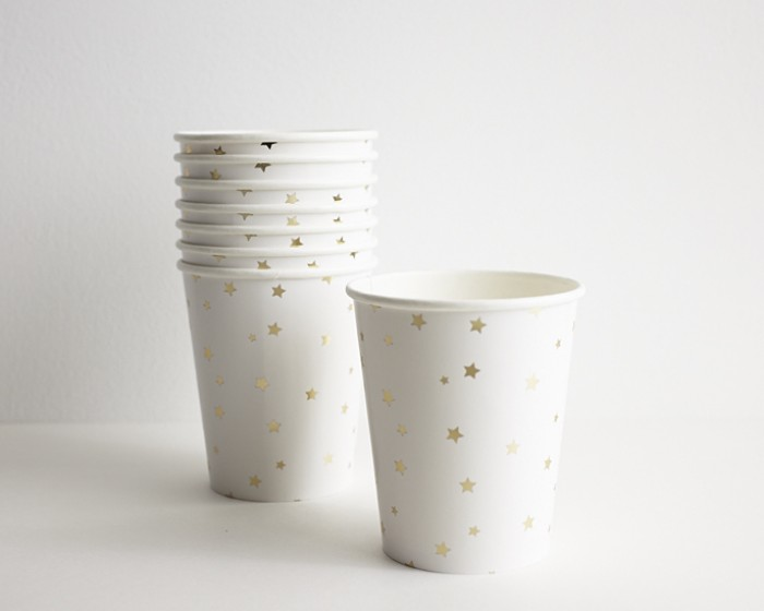 Gold Star Paper Drinking Party Cups |