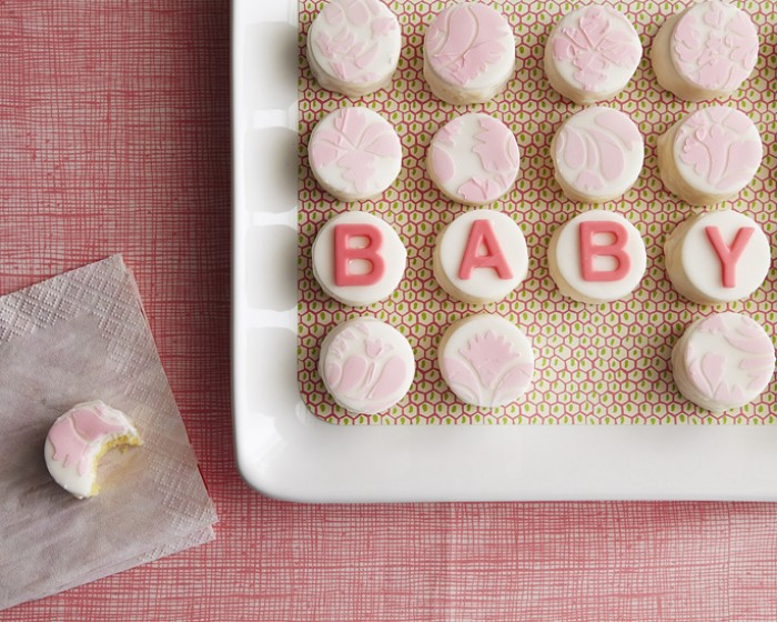 Pink Baby Shower Mini Cake Petit Fours How-to