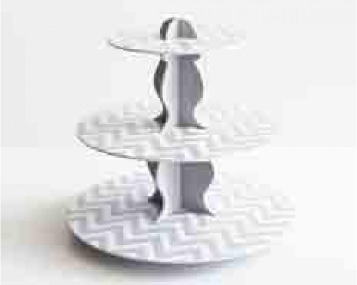 Grey ReversibleCardboard Cupcake Stand |