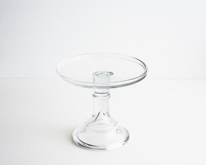 """6"""" Clear Glass Cake Stand"""