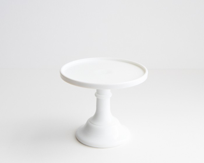 """6"""" Rd Milk White Glass Cake Stand Plate"""