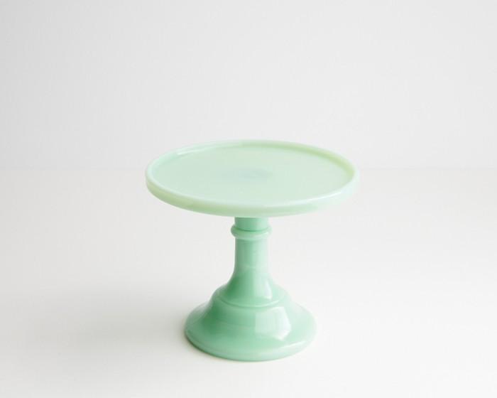 """6"""" Rd Jadeite Milk Glass Cake Stand Plate"""