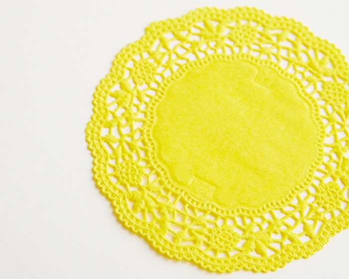 Butter Yellow Lace Paper Cake Doilies Doily