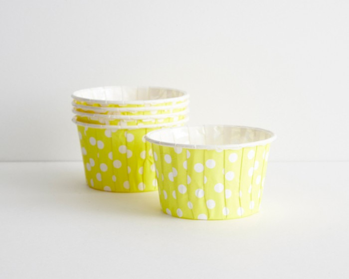 Yellow Polka Dot Candy Nut Portion Cups