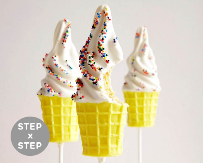 Soft Serve Summer Cake Pops How-To