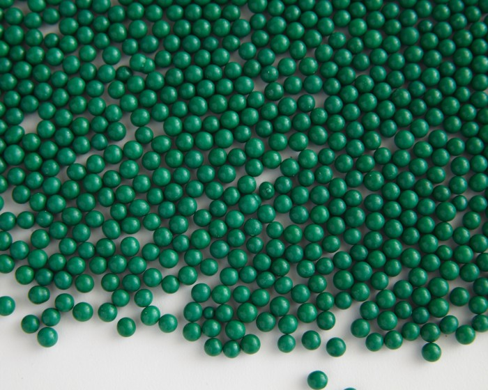 hunter green matte sugar candy pearls sprinkles
