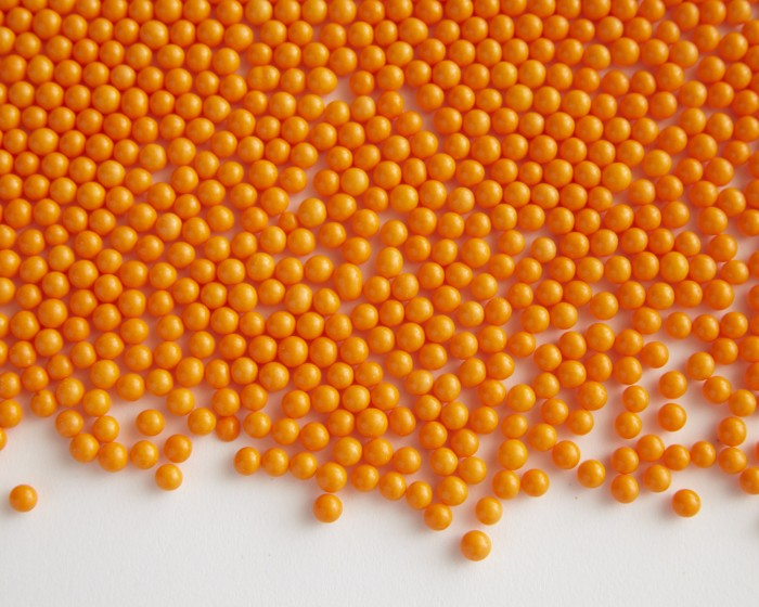 orange matte candy sugar pearls sprinkles