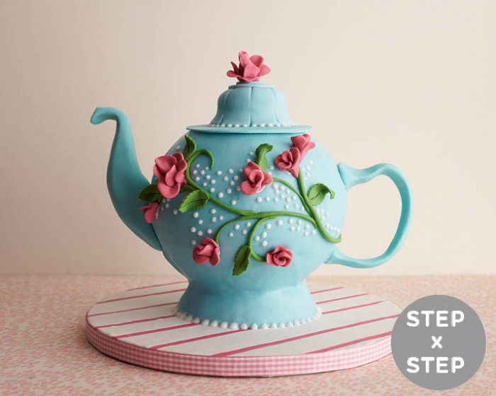 How to Make a Tea Pot Cake |Cakegirls Step x Step