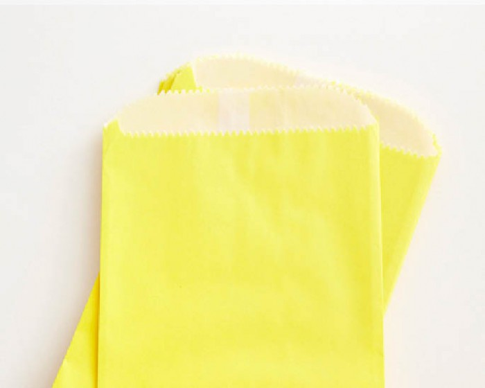 Yellow Glassine Favor Treat Bag