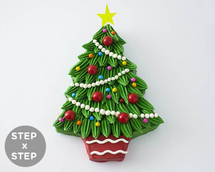 How To Make a Christmas Tree Shaped Cake