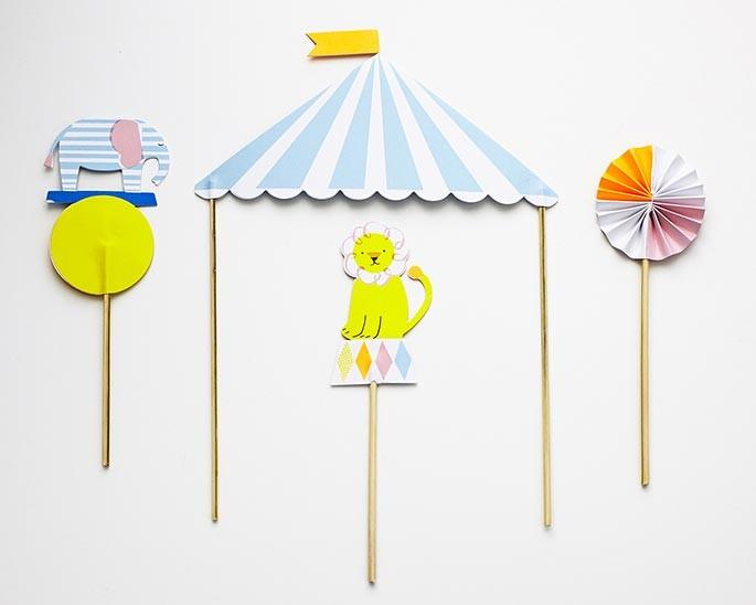 How To Make A Circus Tent Cake Topper