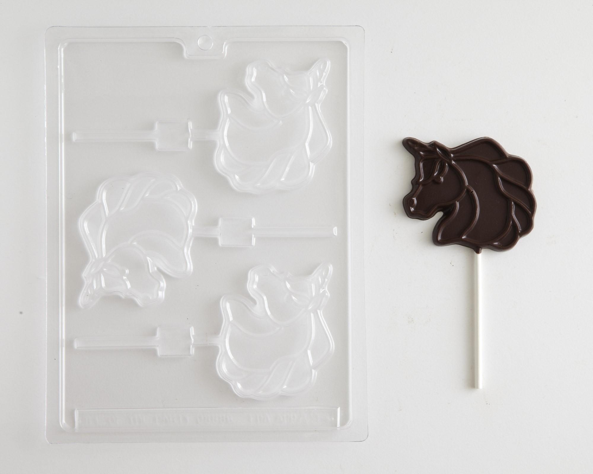 "UNICORN 3/"" SUCKER CHOCOLATE MOLD"