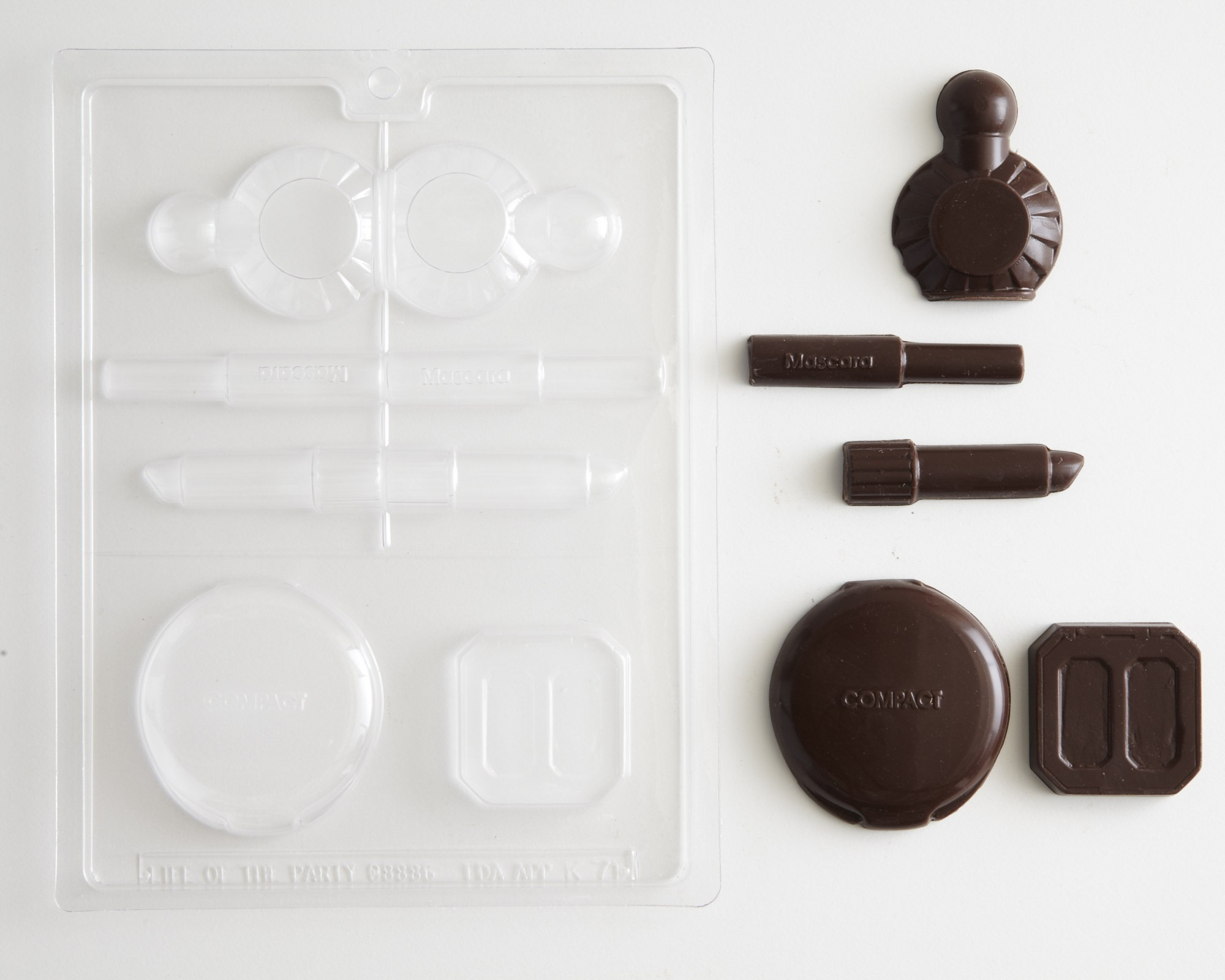 Make Up Kit Perfume Bottle Lipstick Compact Chocolate Candy Mold