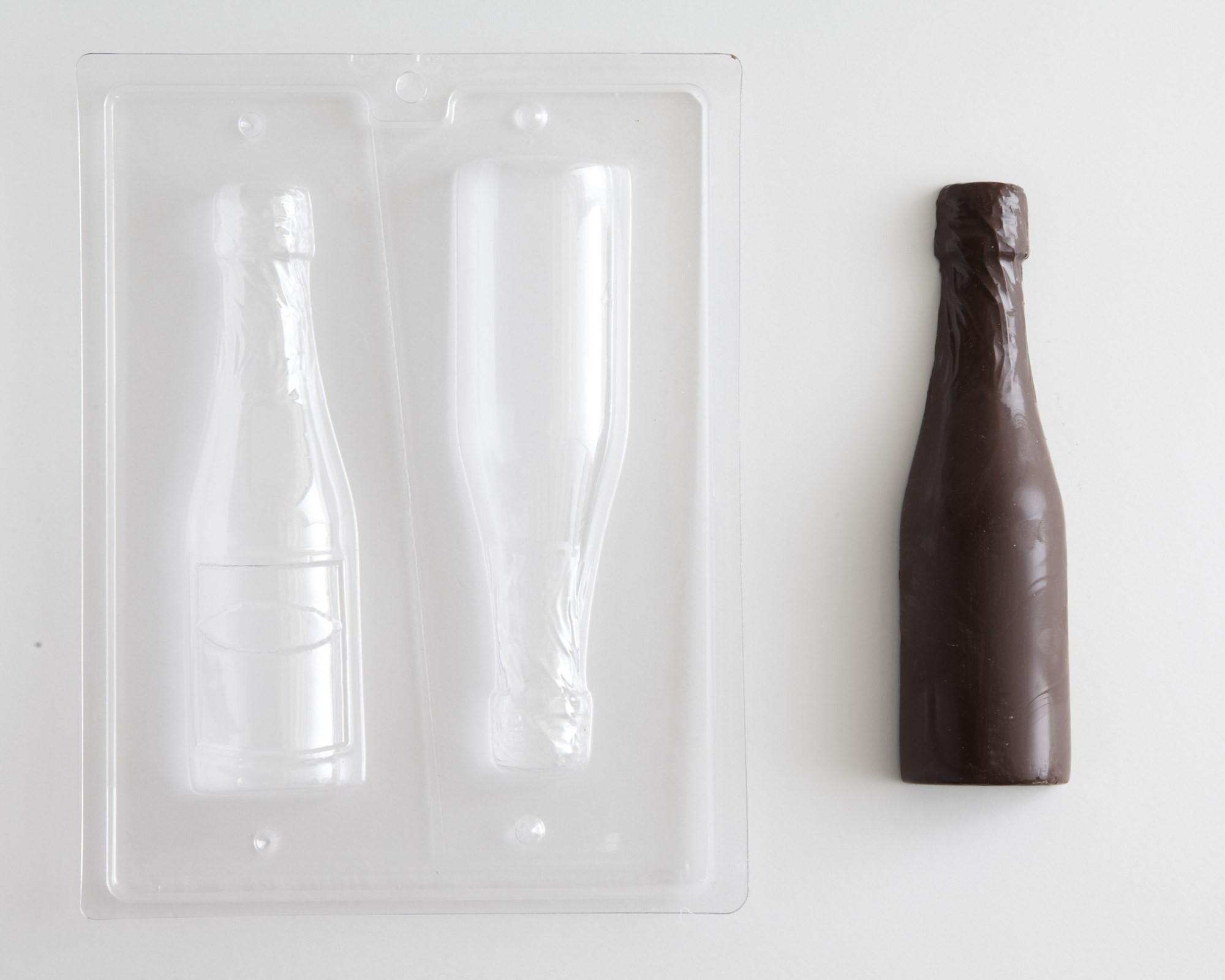 Champagne Bottle - Small Chocolate Mold Cakegirls