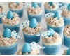 Blue Baby Shower Mini Bird Nest Cupcakes How To