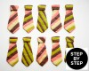 Learn to Make Neck Tie Cookies Step x Step