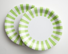 ... Light Lime Green White Striped Paper Plates & SHOP - Patterned Plates Cups and Napkins | Cakegirls