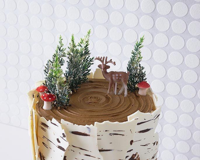 How To Make A Winter Birch Tree Cake | Cakegirls