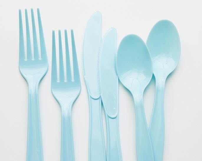 light blue premium cutlery set of 24 cakegirls