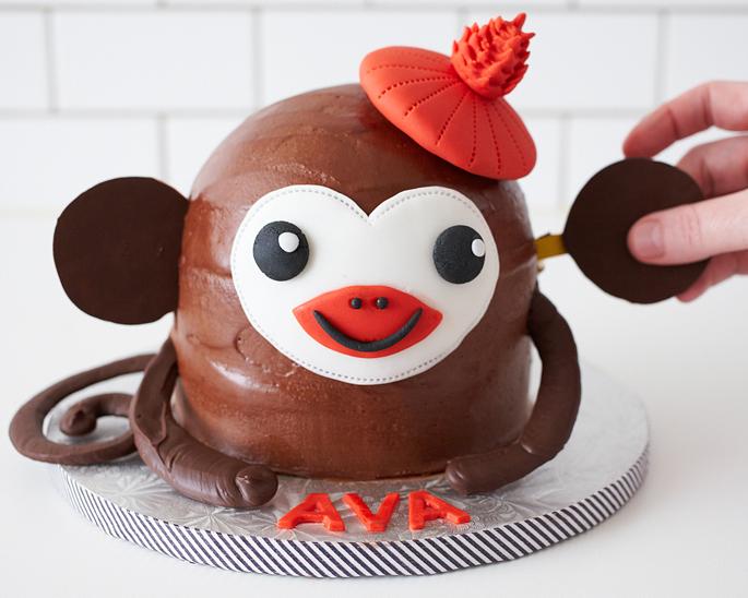 Birthday Monkey Cake HowTo Cakegirls
