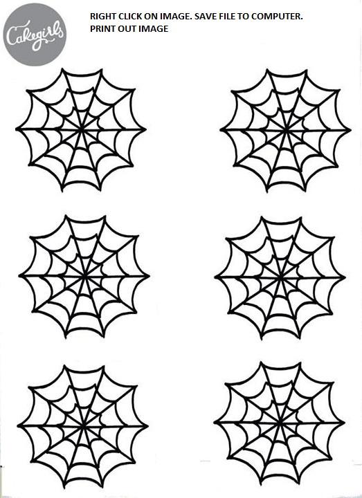 spooky spider web cupcake how to cakegirls. Black Bedroom Furniture Sets. Home Design Ideas