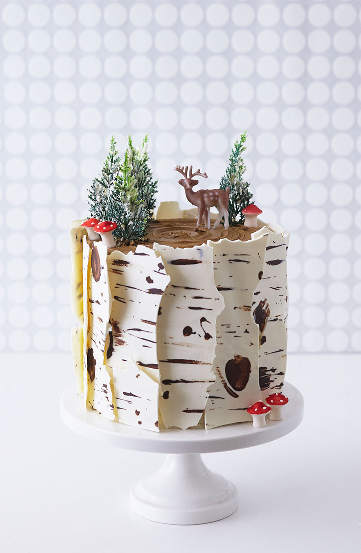 How To Make A Winter Birch Tree Cake