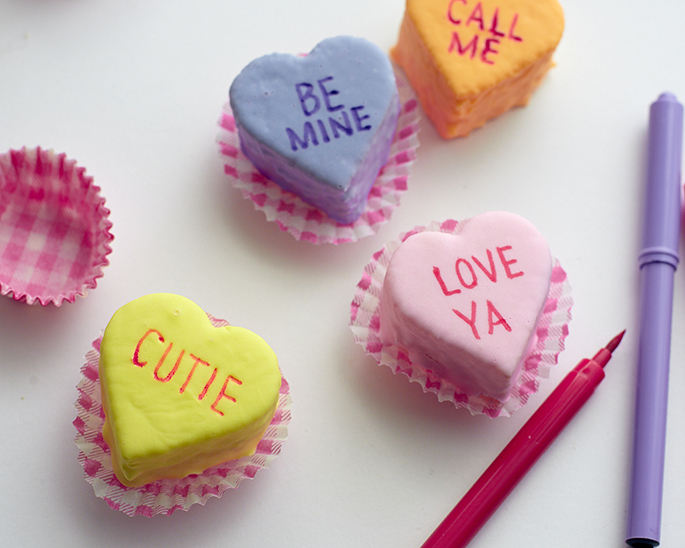 How to Make Conversation Heart Cakes
