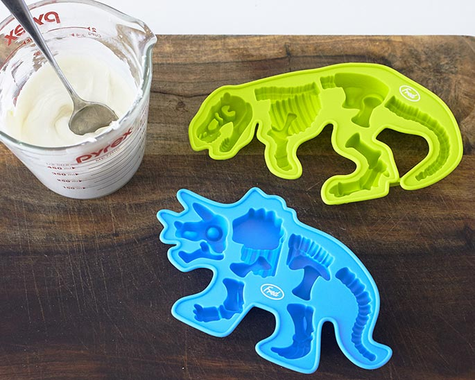 How To Fill A T-Rex Chocolate Mold