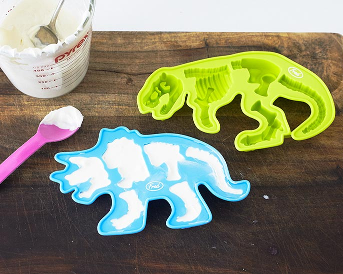 How To Fill A Triceratops Chocolate Mold