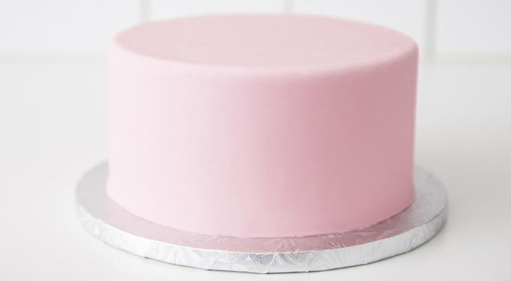 Finished Fondant Cake