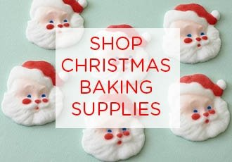 Christmas sugar mold dec ons, cupcake novelties and sprinkles.
