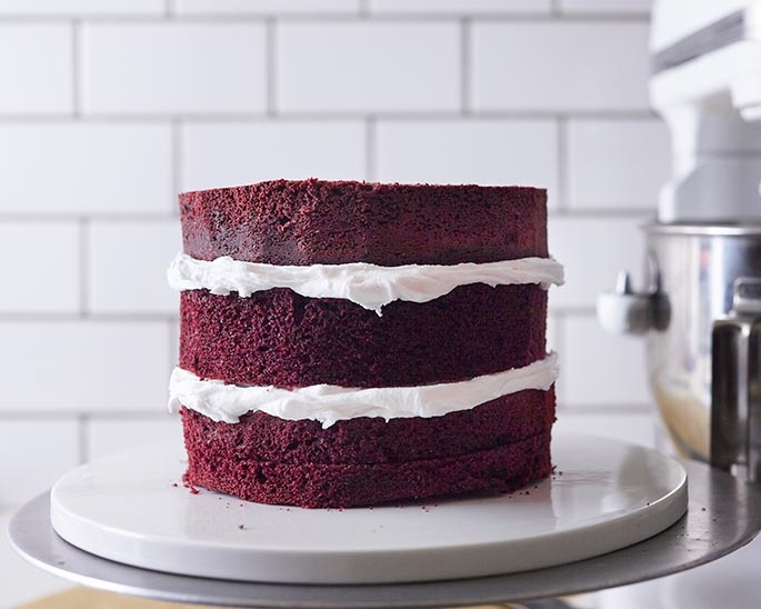Layer your cake with buttercream in between