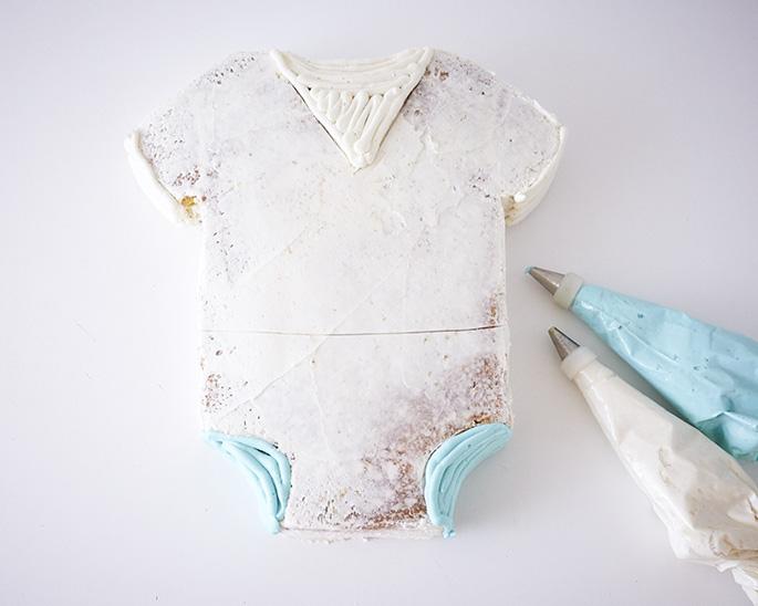 Sailor Suit Onesie Cake