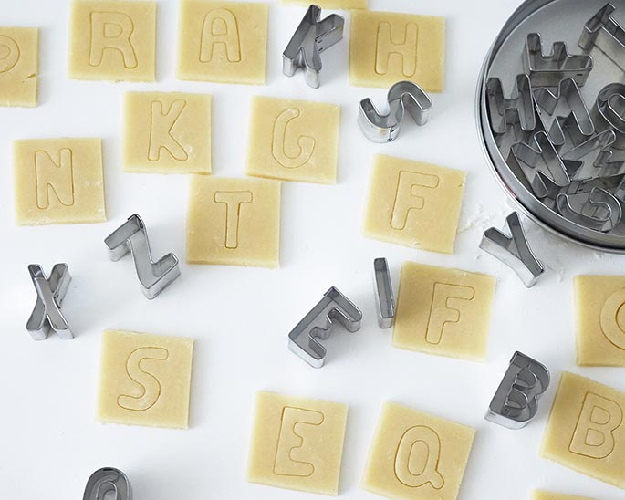 How To Make Scrabble Tile Cookies | Cakegirls Step x Step