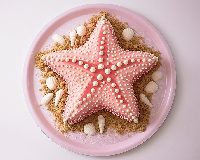 The Finished Starfish Cake!