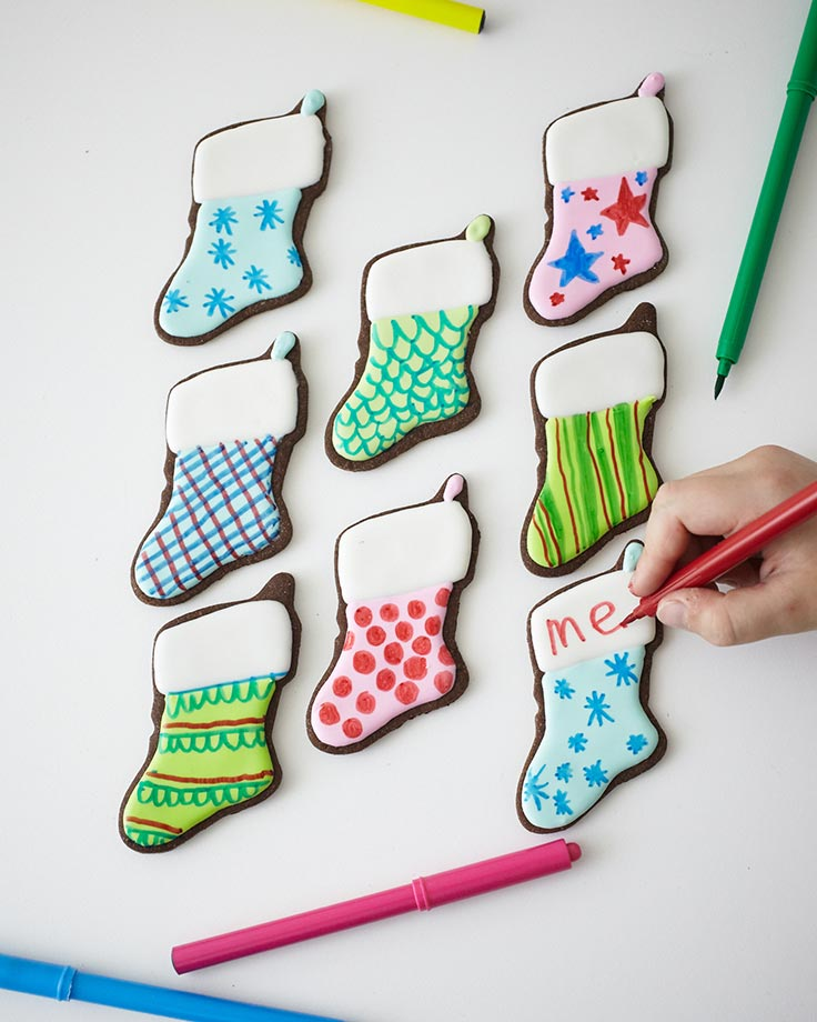 Easy Scribble Stocking Cookie Tutorial