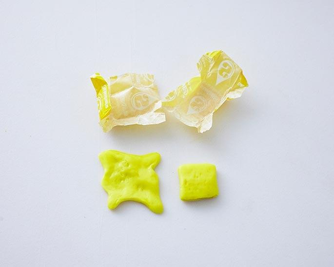 Yellow Starburst Pat of Butter